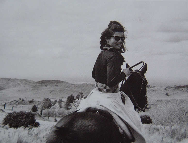 Jackie Kennedy on Estancia in South America